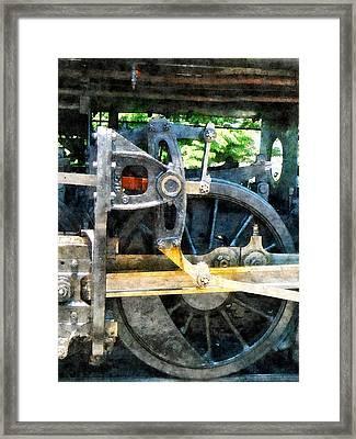 Great Western 90 Wheel Closeup Framed Print