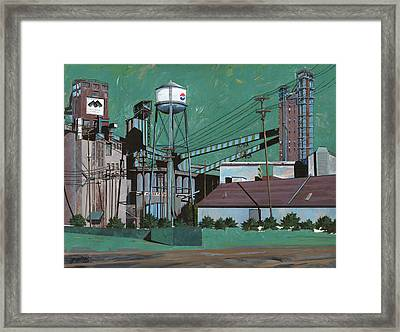 Great Western Malting Framed Print by John Wyckoff