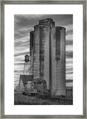 Great Western Sugar Mill Longmont Colorado Bw Framed Print