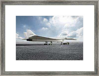 Great White Bird Framed Print by Peter Chilelli