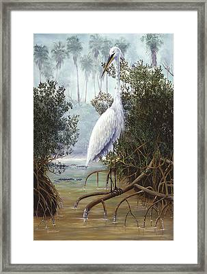 Great White Heron Framed Print by Kevin Brant