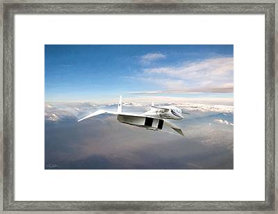 Great White Hope Xb-70 Framed Print by Peter Chilelli