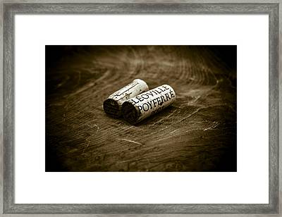 Great Wines Of Bordeaux - Chateau Leoville Poyferre Framed Print