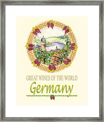 Great Wines Of The World - Germany Framed Print by John Keaton