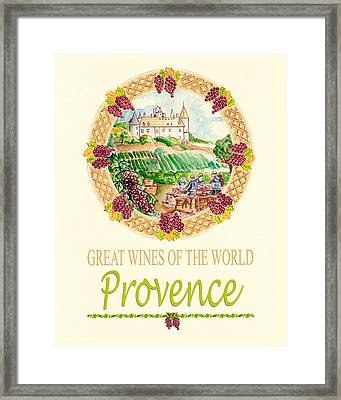 Great Wines Of The World - Provence Framed Print by John Keaton