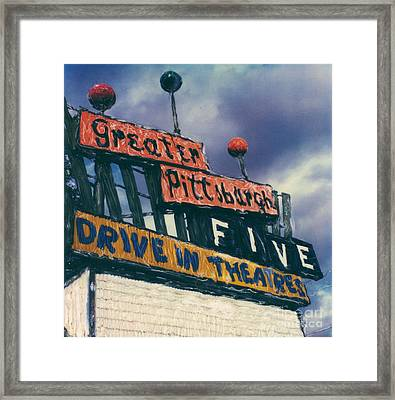 Greater Pittsburgh Five Drive-in Framed Print by Steven  Godfrey