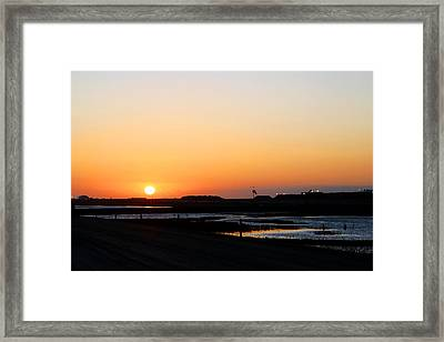 Greater Prudhoe Bay Sunrise Framed Print