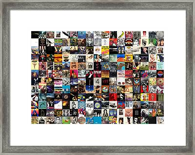 Greatest Album Covers Of All Time Framed Print by Taylan Apukovska