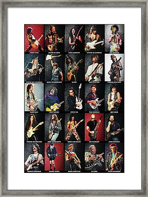 Greatest Guitarists Of All Time Framed Print by Taylan Apukovska
