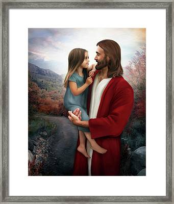 Greatest In The Kingdom Framed Print by Brent Borup