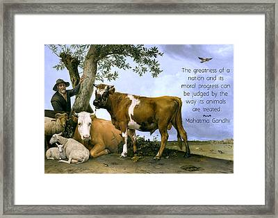 Greatness Of A Nation Framed Print