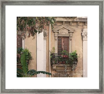 Grecian Courtyard Framed Print