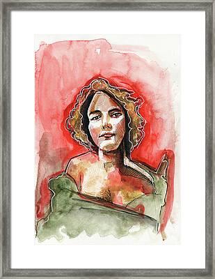 Grecian Curls Framed Print by Rob Tokarz