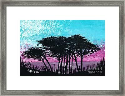 Grecian Sunset Framed Print