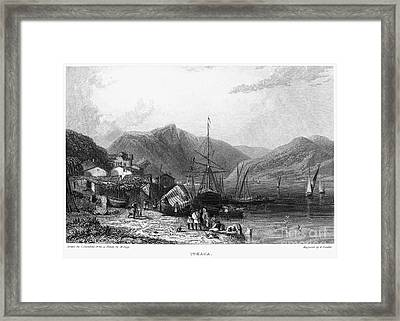 Greece: Ithaca, 1832 Framed Print