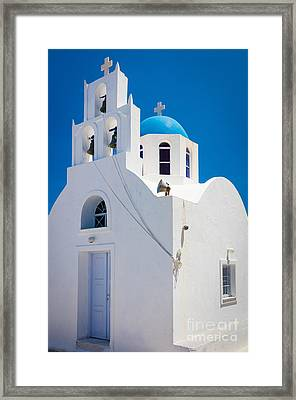 Greek Chapel Framed Print by Inge Johnsson