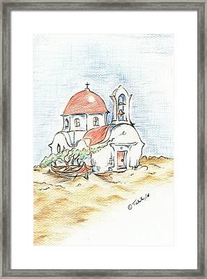 Greek Church  Framed Print by Teresa White