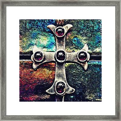 Greek Cross 3 Framed Print by Sarah Loft