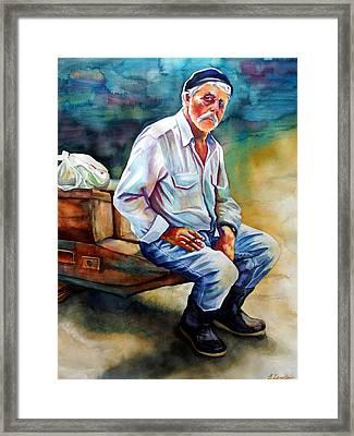 Greek Fisherman Framed Print by Gail Zavala