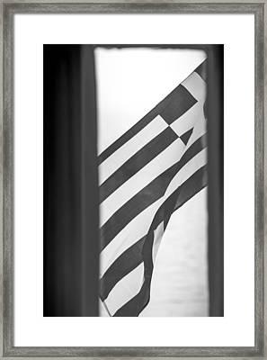 Greek Flag Framed Print
