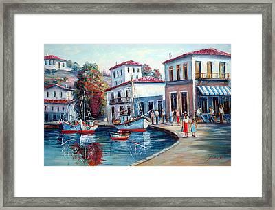 Greek Island No 1--90x60 Cm Framed Print by Nikolas K