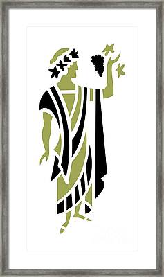 Greek Man In Olive Framed Print by Donna Mibus