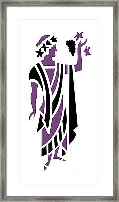 Greek Man In Purple Framed Print by Donna Mibus