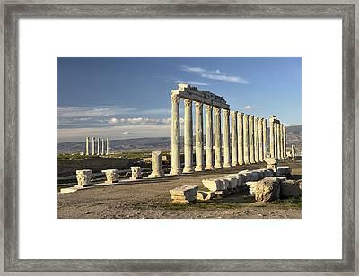 Greek Roman City Of Laodicea. Denizli, Turkey Framed Print