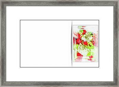 Greek Salad Business Card Framed Print