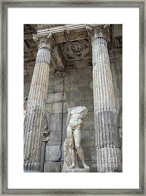 Framed Print featuring the photograph Greek Statue by Patricia Hofmeester