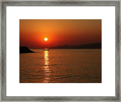 Greek Sunrise Framed Print