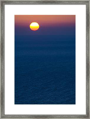 Greek Sunset Framed Print by Rainer Kersten