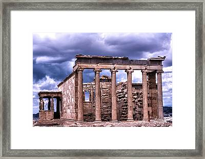 Greek Temple Framed Print