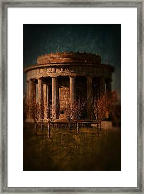 Greek Temple Monument War Memorial Framed Print by Angie Tirado