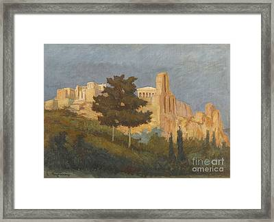 Greek The Acropolis Framed Print by MotionAge Designs