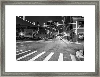 Greek Town In Black And White Framed Print