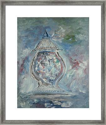 Greek Urn Framed Print by Edward Wolverton