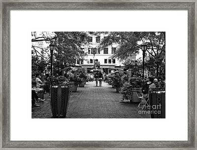 Greeley Square Park Mono Framed Print