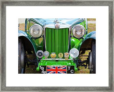 Framed Print featuring the photograph Green 1948 Mg Tc by Chris Dutton