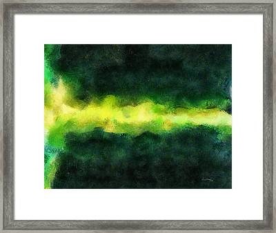 Green Abstract Framed Print by Russ Harris