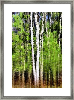 Green Abstract Tree Reflection Framed Print by Christina Rollo