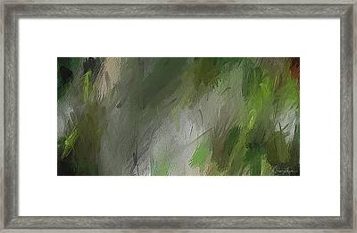 Green Abstract Wall Art Framed Print by Lourry Legarde