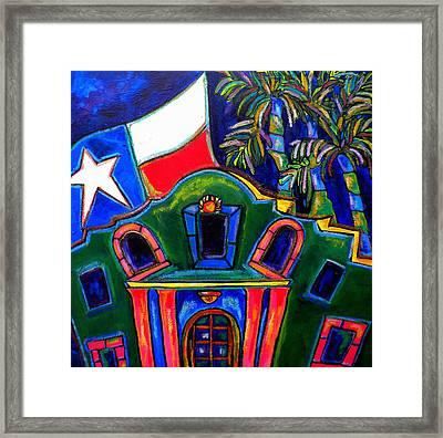 Green Alamo Framed Print