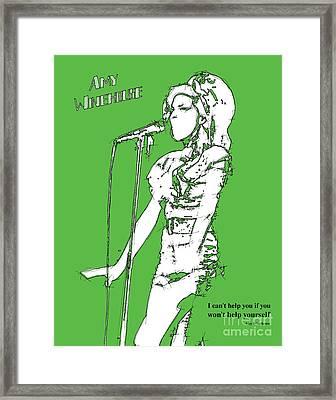 Green Amy Framed Print
