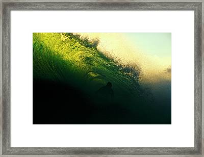 Green And Black Framed Print