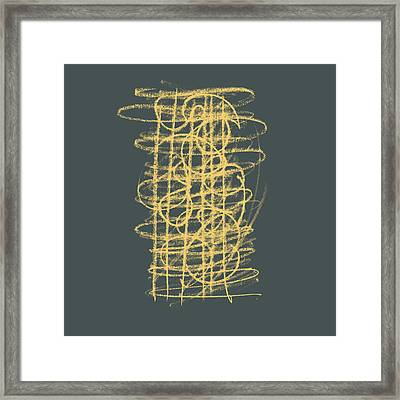 Green And Gold 1 Framed Print