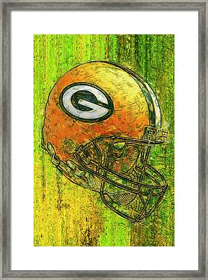 Green And Gold Framed Print by Jack Zulli