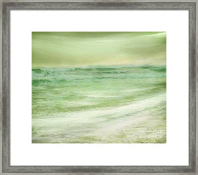 Green And Gold  Framed Print by Linde Townsend