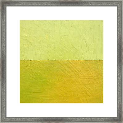 Green And Greenish Framed Print
