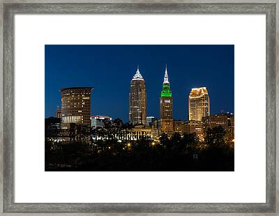 Green And Grey In Cleveland Ohio Framed Print